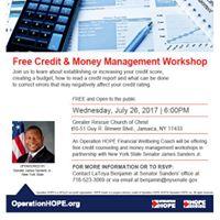 Free Credit &amp Money Management Workshop