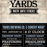 Yards Brewing Free Comedy Night with Verbal Shenanigans