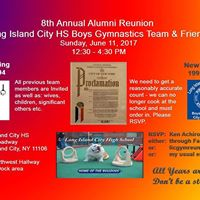 Long Island City HS Boys Gymnastics Team and Friends Reunion