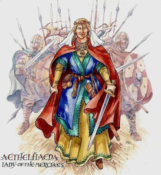 Q in the Park - Aethelflaed- Lady of Mercia Medieval Weekend
