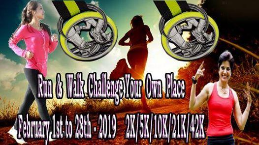 2k5k10k21k42k Walk or Run Challenge February 1st to 28th
