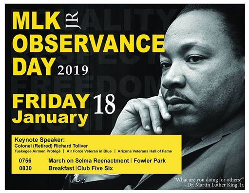Martin Luther King Jr Observance Day 2019 At Luke Afb Arizona 56th