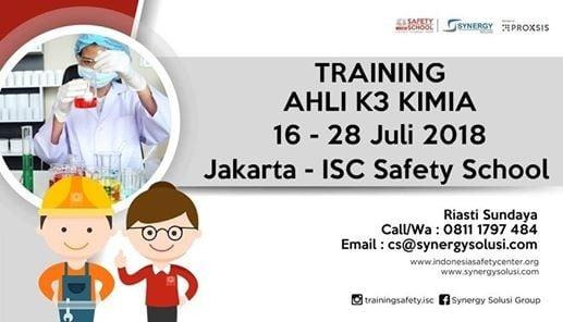 Training Ahli K3 Kimia Tanggal 16-28 Juli 2018