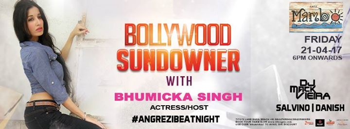 Bollywood Sundowner with Bhumicka Singh AngreziBeatNight