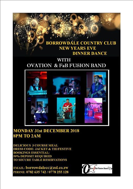 New Years Eve Dinner Dance with Ovation and FaB Fusion