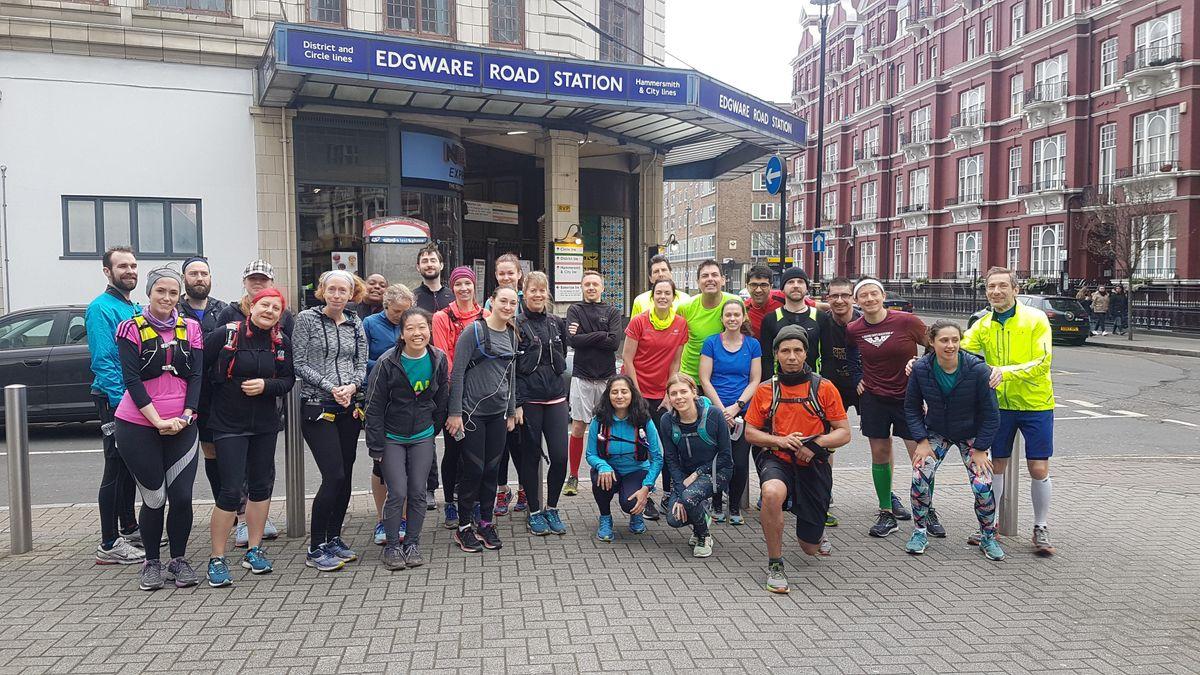 London Tube Run - Circle Line (15 Mile  24 km Run)