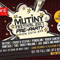Evolve Mondays  Mutiny Festival Takeover  24th April