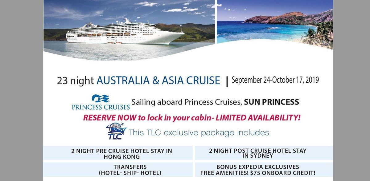 Cruise Asia & Australia with included pre & post hotel stays