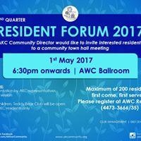 2nd Quarter Resident Forum 2017