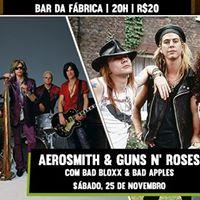 Aerosmith &amp Guns N Roses  Bar da Fbrica