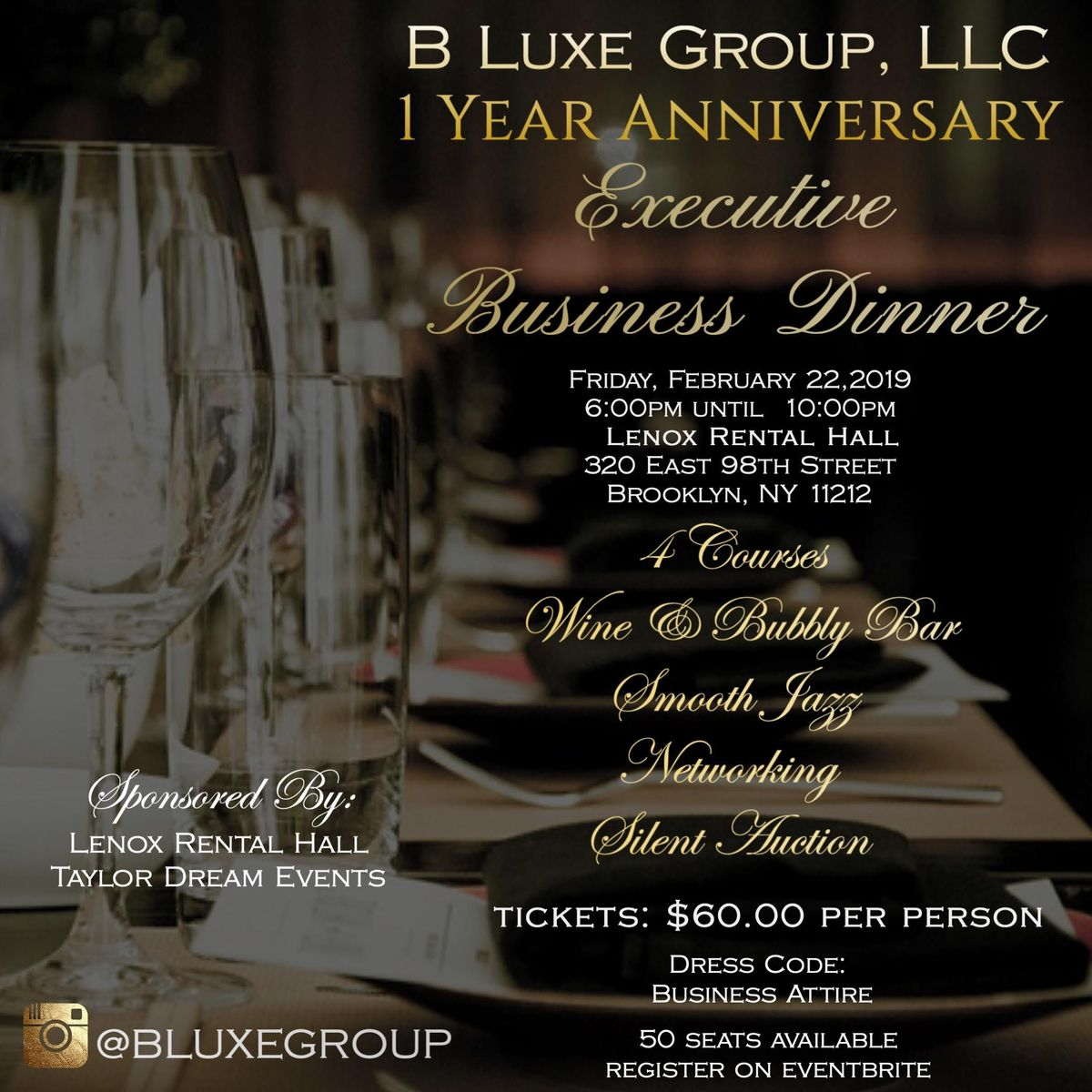 Executive Business Dinner- B Luxe 1 Year Anniversary