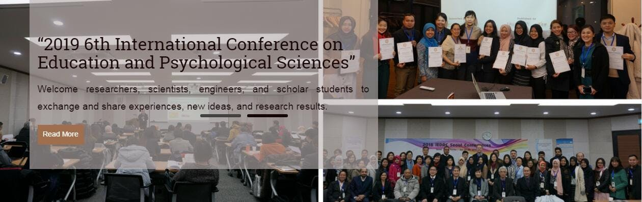 2019 6th International Conference on Education and Psychological Sciences (ICEPS 2019)