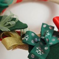 Christmas Textile Wreath Making
