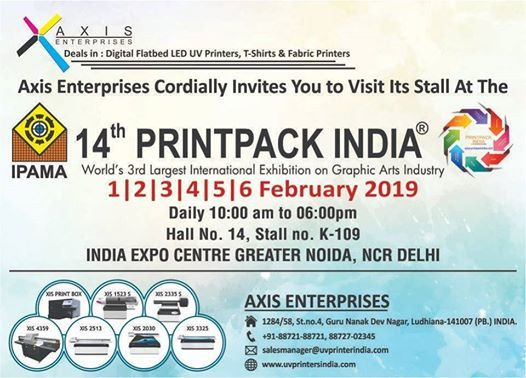 Axis Enterprises At Print Pack India at India Expo Center Greater