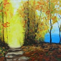 Fall PathPaint NiteArt on Tap-Mt. Baldy Lodge
