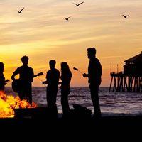 Night Camping Bonfire &amp Music Masti at Manjhar Beach