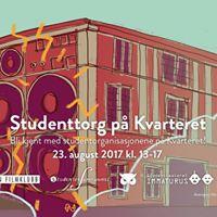 Studenttorg p Kvarteret  Student fair at Kvarteret