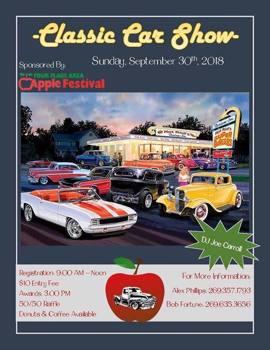 Classic Car Show At Four Flags Area Apple Festival Michigan - Car show banners