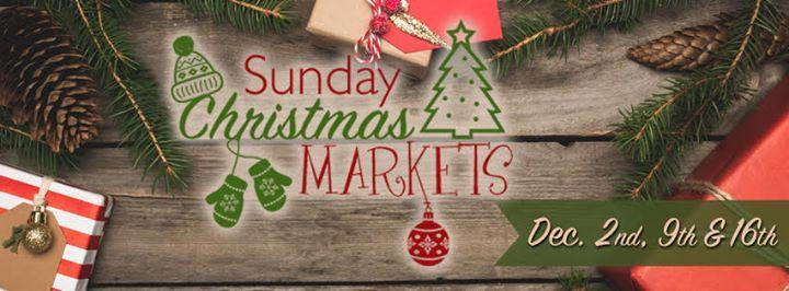 Sunday Christmas Markets 2018