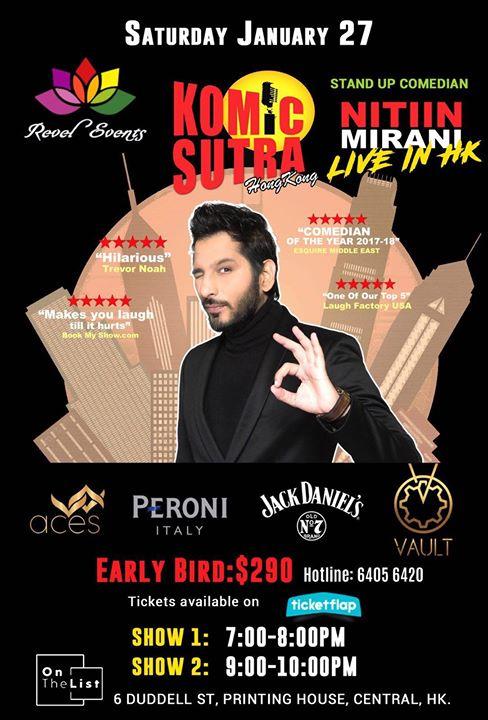 NITIN Mirani (KOMIC SUTRA) Live in HKG