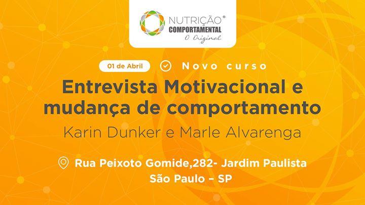 Curso Entrevista Motivacional E Mudança De Comportamento