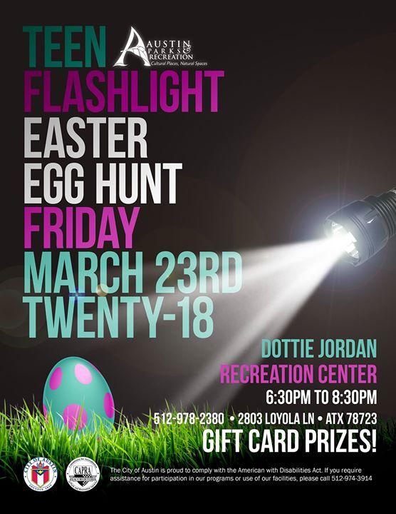 Teen Flashlight Easter Egg Hunt