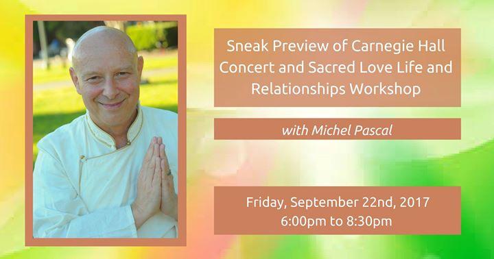 Carnegie Hall Concert PreviewSacred Love Life & Relationships
