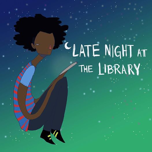 Image result for late night at the library