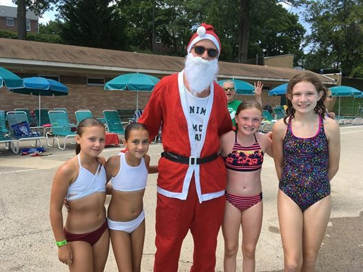 Christmas In July Swimsuit.Christmas In July At Aronimink Swim Club Drexel Hill