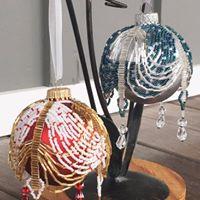 Draped Christmas Ornament