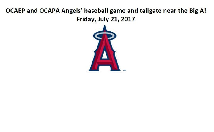 OCAEP and OCAPA Angels baseball game and tailgate