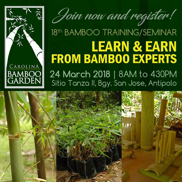 Bamboo TrainingSeminar  Learn and Earn from Bamboo Experts