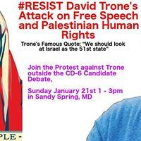 Resist David Trones Attack on Free Speech &amp Palestinian Rights