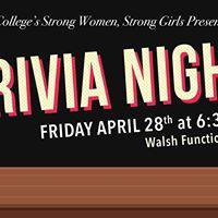 Strong Women Strong Girls Trivia Night