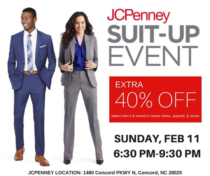 Jcpenney Suit Up Event At 1480 Concord Pkwy N Concord Nc 28025