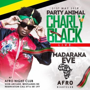 Charly Black at Afro Nightclub