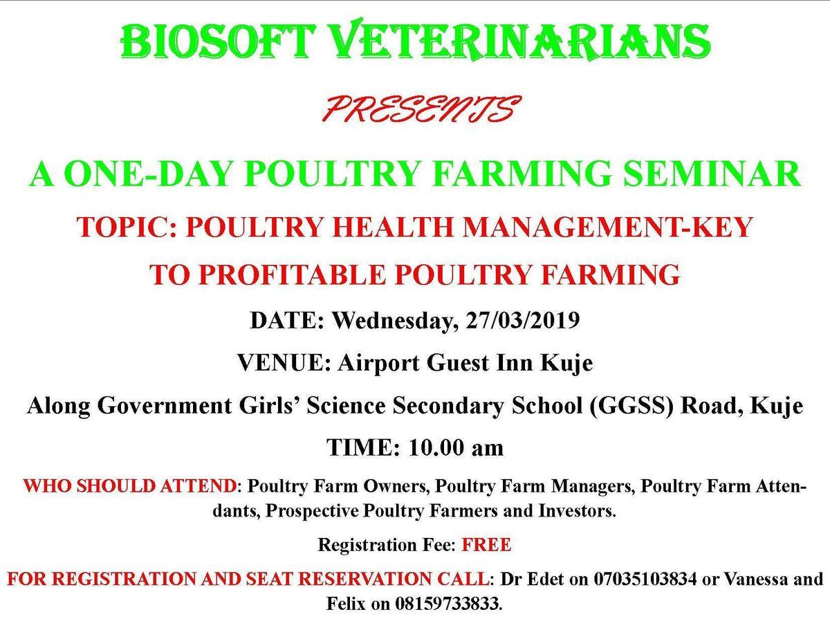 Poultry Health Management Seminar