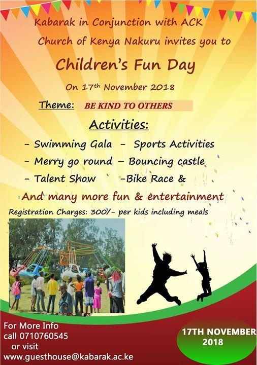 Kabarak University Ack Church Childrens Fun Day At Kabarak Guest