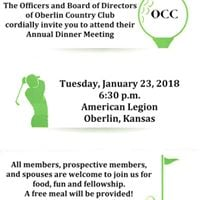 2018 Oberlin Country Club Annual Meeting