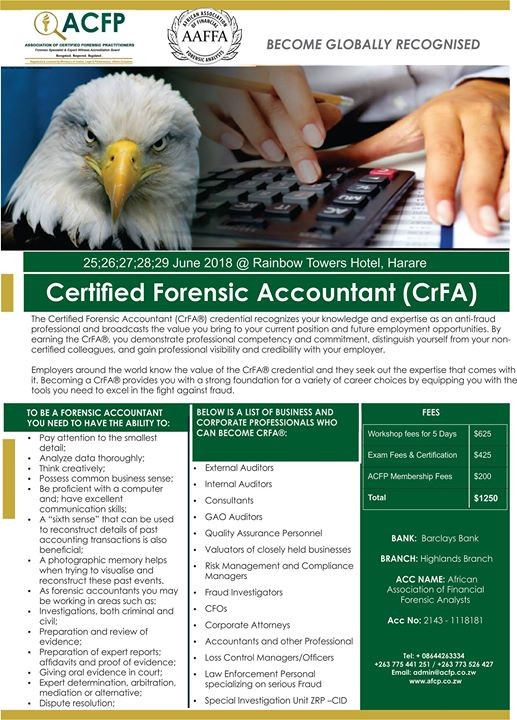 Certified Forensic Accountant (CrFA)