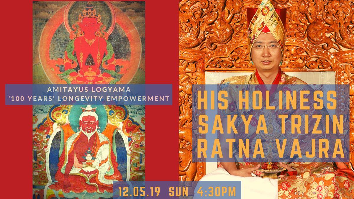 His Holiness Sakya Trizin Ratna Vajra: 100 year Longevity