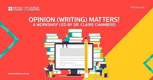 Opinion (Writing) Matters A Writing Workshop with Dr. Claire