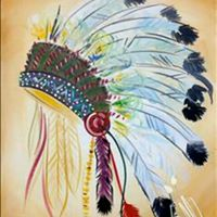 Indian headdress at painting with a twist abilene tx for Painting with a twist arizona