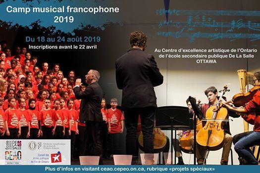 Camp musical francophone 2019