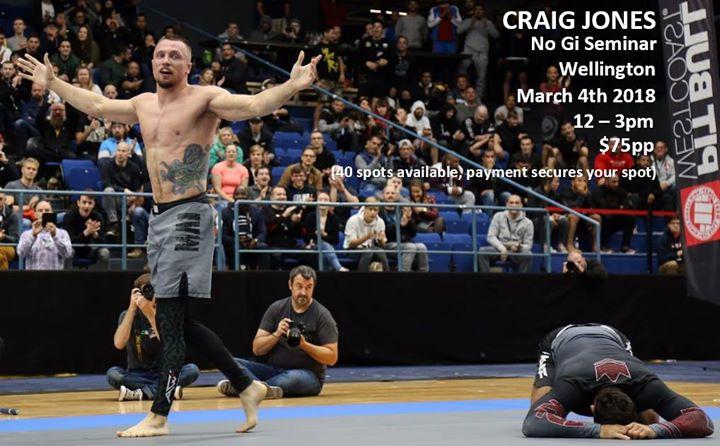 Craig Jones No Gi Seminar - Wellington at Combat Room Jiu