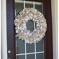 Burlap Wreath-Dixie Belle embellishment