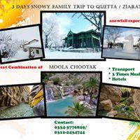 3 Days Snowy Family Tour to Quetta Ziarat &amp Moola Chotok