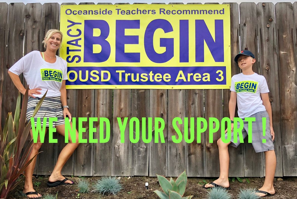 Neighborhood Walk-Support Stacy Begin for School Board
