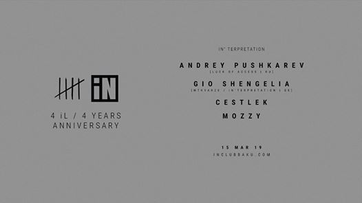 iNterpretation 4 L  4 YEARS ANNIVERSARY w ANDREY PUSHKAREV