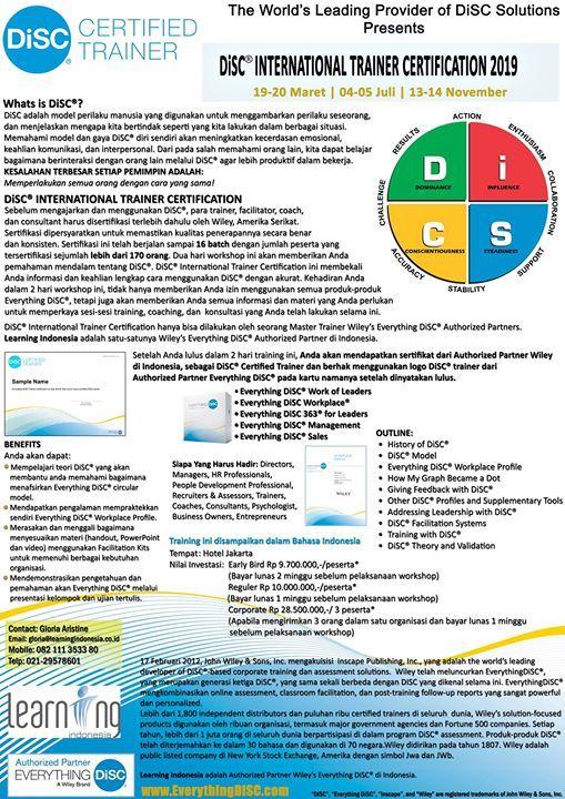 Public Workshop - DiSC International Trainer Certification